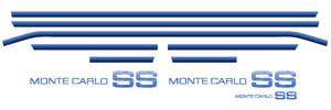 Body Stripe Kit, 1983-84 Monte Carlo SS Light Blue/Medium Blue/Dark Blue