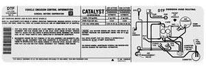 1983 Malibu Emissions Decal 229/3.8 High/Low Altitude (DTF, #14065540)