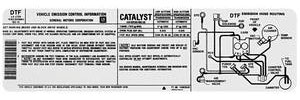 1983 El Camino Emissions Decal 229/3.8 High/Low Altitude (DTF, #14065540)