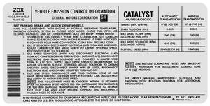 1987 Emissions Decal (Monte Carlo) 5.0 CA (ZCX, #10051432)