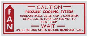 1979-80 Caution Fan Decal Malibu