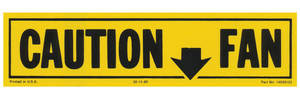 1981-82 El Camino Caution Fan Decal