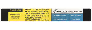 1978-1978 Malibu Air Conditioning Evaporator Box Decal, Harrison