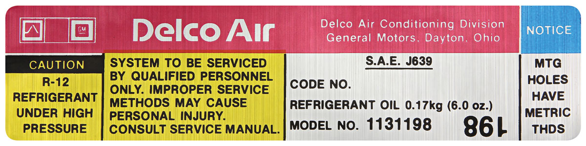Photo of Air Conditioning Compressor Decal (#1131198)