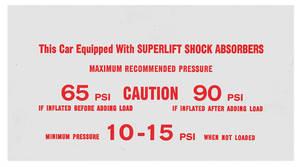 1979 El Camino Air Shock Instruction Decal