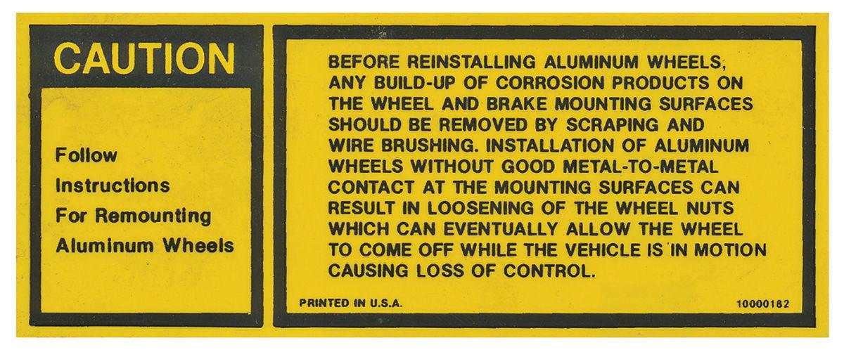 Photo of Wheel Decal (Interior) - Wheel Instructions (#10000182)