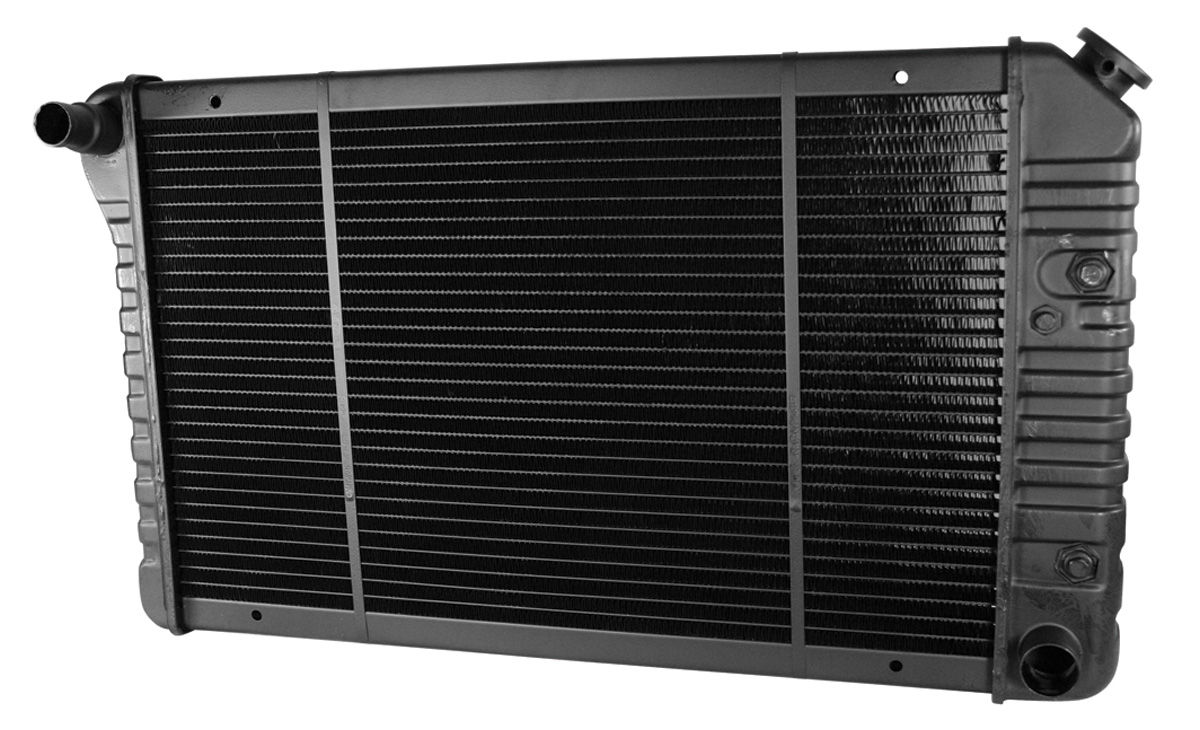 "Photo of Radiator, Original Style V8, At 2-row (1-1/4"" thick) 2"" LH mount, 2-3/4"" RH mount"