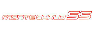 """Deck Lid Decal, 1985-86 """"Monte Carlo SS"""" Red"""