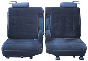 1978-1980 El Camino Seat Upholstery, 1978-80 Split-Bench Seat with Dual Folding Armrests El Camino Cloth