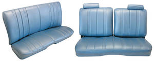 1978-1982 Seat Upholstery, Split-Back Bench Malibu 2-Door and Monte Carlo (Front/Rear) Vinyl, w/o Armrest, w/Headrest
