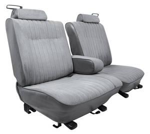 1981-1987 El Camino Seat Upholstery, Standard 55/45 Split-Bench Seat with Folding Armrest El Camino Vinyl