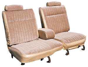 1982 Seat Upholstery, Standard 55/45 Split-Bench Seat with Folding Armrest Malibu Classic (Front/Rear) Cloth