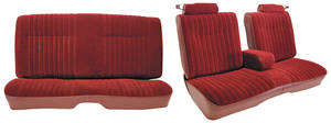 1982-88 Seat Upholstery, Notchback Bench Seat with Fold-Down Center Armrest Malibu, Monte Carlo (Front/Rear) Cloth