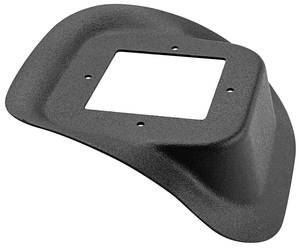 1978-88 Monte Carlo Shifter Hump Repair Panel, Manual Transmission Plastic, Black, by RESTOPARTS