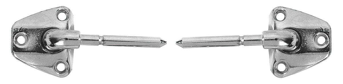 "Photo of Sun Visor Supports 4-1/2"" Long Pin chrome - T-top - w/illum. visor mirrors"