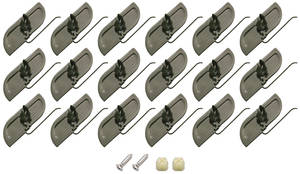 1978-79 El Camino Rocker Molding Clips 22-Piece, by RESTOPARTS