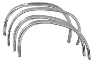 1978-87 Wheel Opening Moldings - Front Fender (El Camino and Malibu Sedan) w/o Body Side Moldings, by RESTOPARTS
