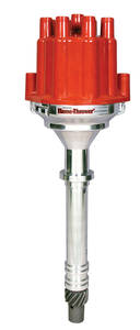 1964-1977 Chevelle Distributor, Quality Billet W/O Vacuum and Female Terminal Red, by PERTRONIX