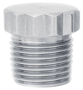 "1964-77 Chevelle Fitting: Stainless Steel Pipe Plug 7/8"" (12-Pt.) X 7/8"" (Long) 1/2"" NPT"