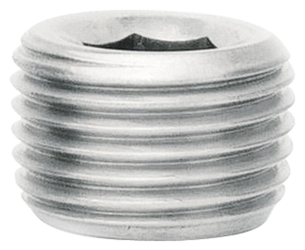 "Photo of Fitting: Stainless Steel Pipe Plug 1/4"" Allen, 1/4"" NPT"