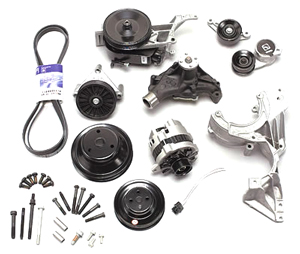 1964-1977 Chevelle Serpentine Drive System Conversion, Small-Block Deluxe w/o AC, by GM