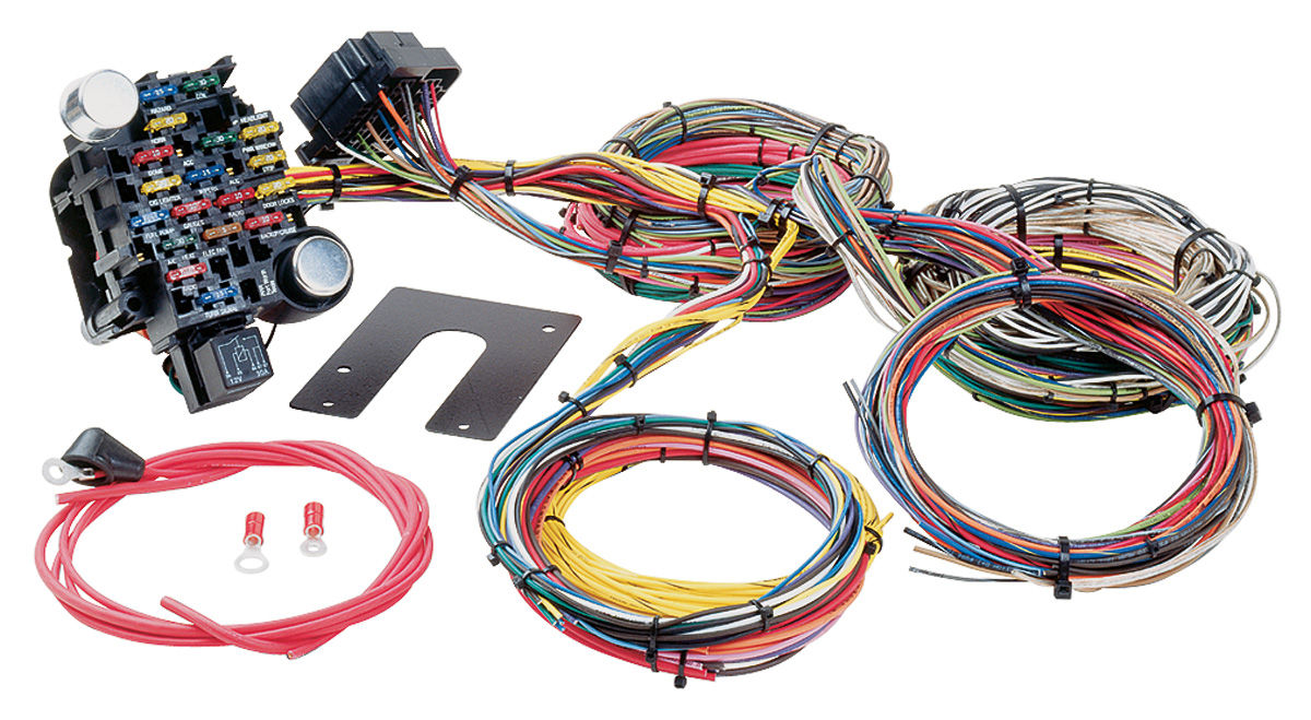 wiring harness, muscle car universal style 28 circuit