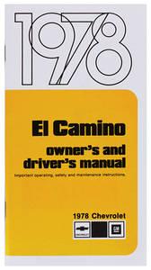 1978-1978 El Camino Authentic Owner's Manuals El Camino