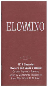 1979 Authentic Owner's Manuals El Camino