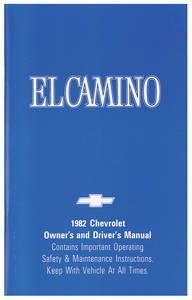 Authentic Owner's Manuals El Camino