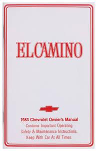 1983-1983 El Camino Authentic Owner's Manuals El Camino