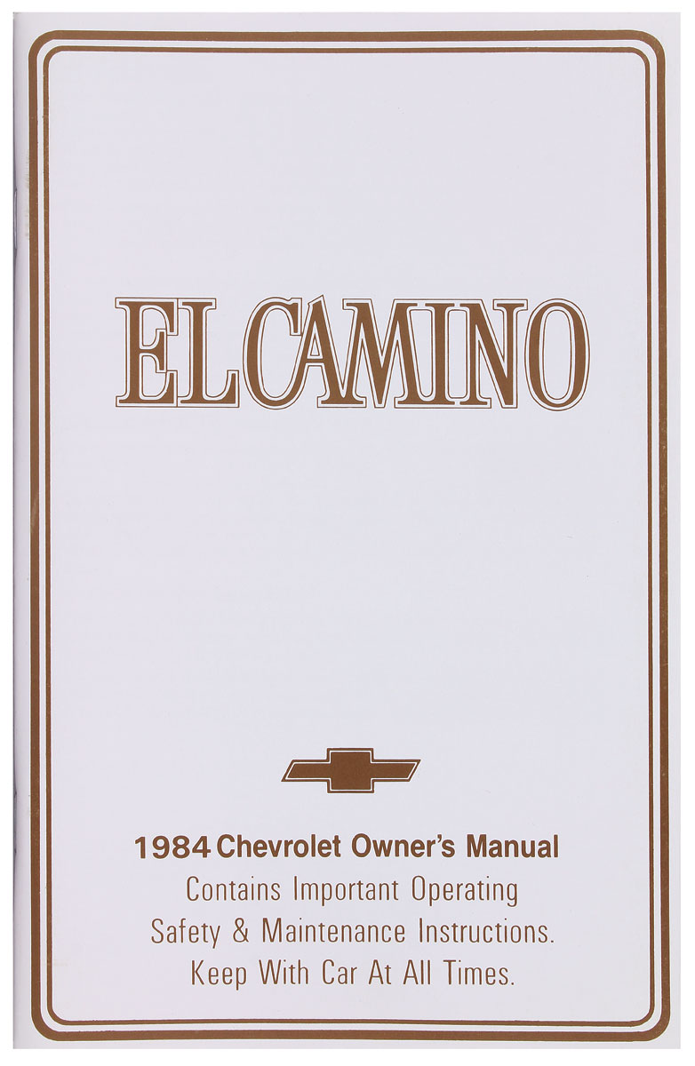 Photo of Authentic Owner's Manuals El Camino