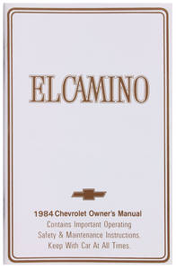 1984 Authentic Owner's Manuals El Camino