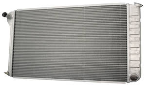 "1978-88 El Camino Radiator, Aluminum Desert Cooler Satin - 18-1/4"" X 26-1/4"", Center Filler Manual"