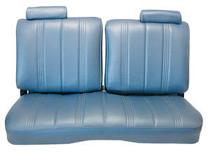 1978-1982 Monte Carlo Seat Upholstery, Split-Back Bench Malibu 2-Door and Monte Carlo (Front/Rear) Vinyl, w/o Armrest, w/Headrest
