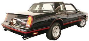 1987-1988 Monte Carlo Bumper Cover, Rear (Monte Carlo)