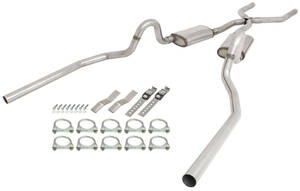 "1978-88 Exhaust Kits, Pypes Stainless Steel Malibu and Monte Carlo Street Pro, 2-1/2"", Side Exit"