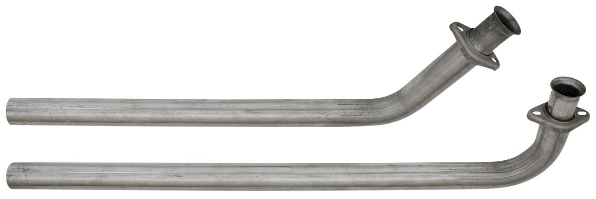 """Photo of Exhaust Down Pipes (Pypes) 2-1/2"""" dia., w/2-bolt flanges"""