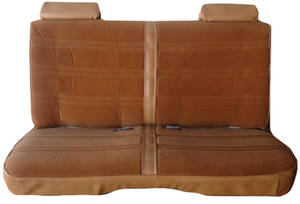 Malibu Seat Upholstery, 1978-83 Solid Bench 4-Door Sedan & Station Wagon Cloth, w/Horizontal Pleats
