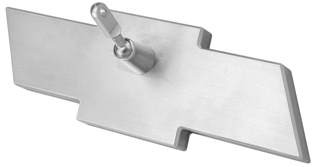 """Photo of Mirror, 8"""" Inside Billet Bowtie brushed - Corvair"""