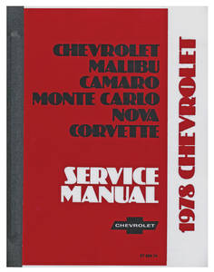 1978-1978 Monte Carlo Chassis Service Manual