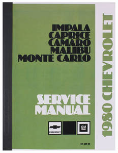1980 El Camino Chassis Service Manual