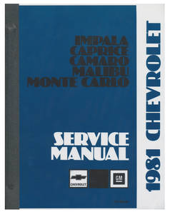 1981-1981 Monte Carlo Chassis Service Manual