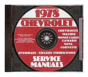 1978-1978 Monte Carlo Chassis Overhaul Manual CD-ROM