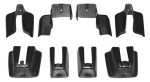 1978-88 Monte Carlo Seat Track Covers Bucket Seat, Lower Track, 8-Piece
