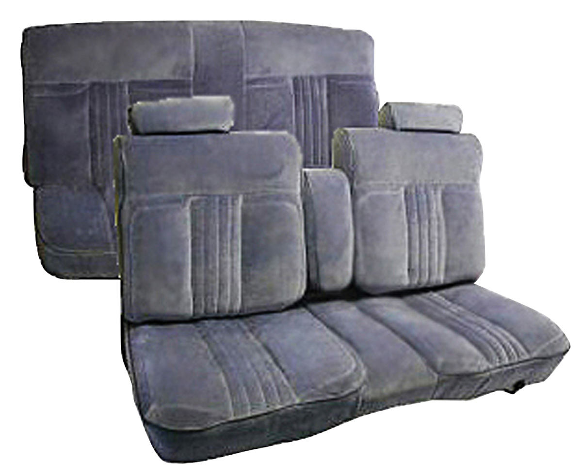 Photo of Seat Upholstery, 1982-86 Custom Cloth Notchback Bench Monte Carlo cloth, bench w/rear