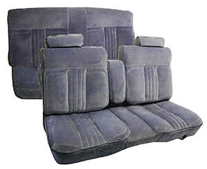 1982-1986 Monte Carlo Seat Upholstery, 1982-86 Custom Cloth Notchback Bench El Camino, Monte Carlo & Malibu Cloth, Bench