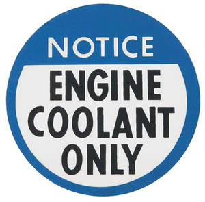 1978-82 Malibu Engine Coolant Decal (#44265327)