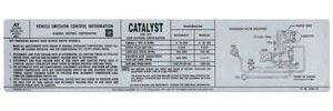 1979 Monte Carlo Emissions Decal 5.5 305 AT/MT (#14006778)