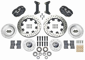 """1979-1988 Monte Carlo Brake Kit, Forged Dynalite 12"""" Front (Big Brake) Drilled/Slotted Rotors, by Wilwood"""