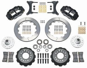 "1978-1983 Malibu Brake Kit, Superlite 6-Piston Front (Big Brake) 13"" Slotted Rotors, by Wilwood"